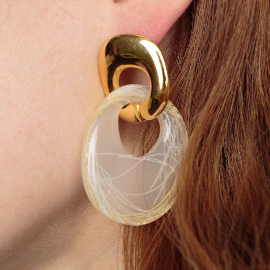 Finn Earrings Golden Sparkle