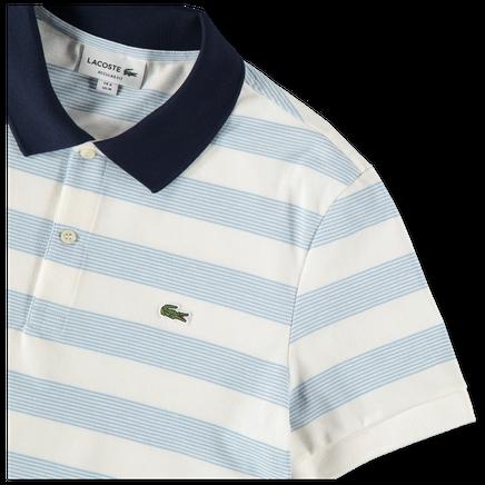 Stripe Contrast Collar Polo
