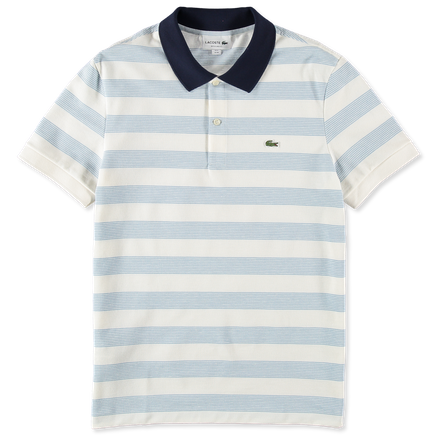 Stripe Contrast Collar Polo