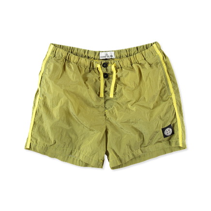 7015B0643 V0038 - Nylon Metal Swim Shorts Wheat