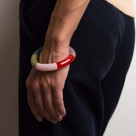 Rainbow Army Bead Bracelet