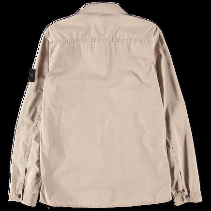 7115115WN V0120 Old Effect Tela Zip Overshirt