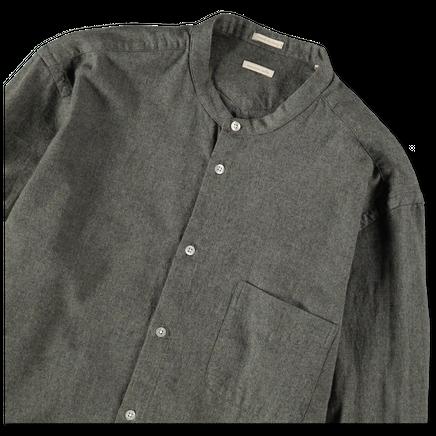 Noto1 No Collar Flannel Shirt