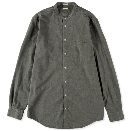 Noto1 No Collar Flannel Shirt
