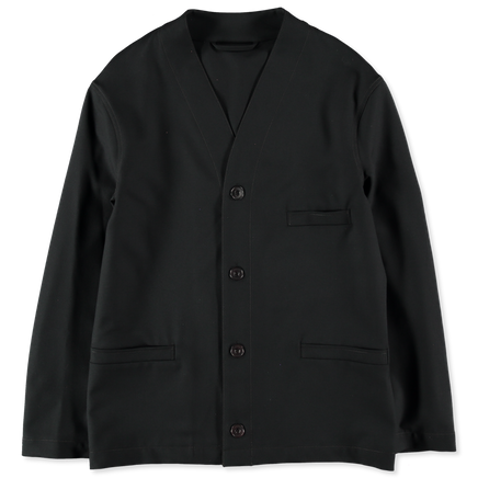 Wool Gabardine V-Neck Jacket
