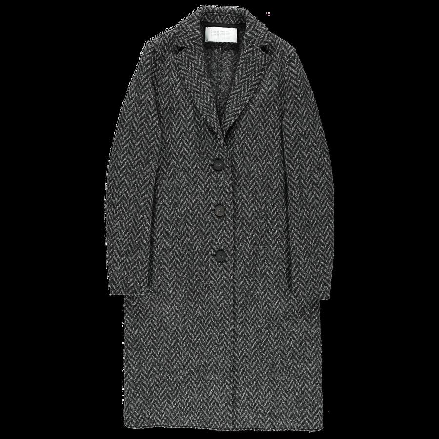 Knitted Herringbone Coat