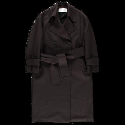 Pressed Wool Trenchcoat