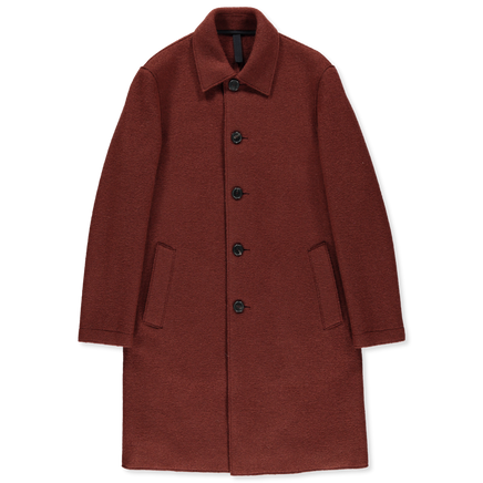 Boiled Wool Mac Overcoat