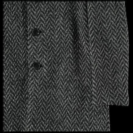 Knitted Herringbone Overcoat