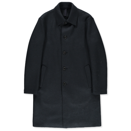 Pressed Wool Mac Overcoat