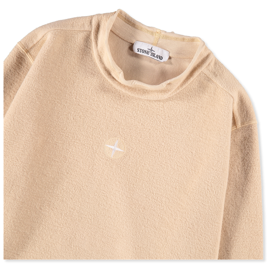 Gauzed Co/Ny Fleece Mock Neck - 711562640 - V0091