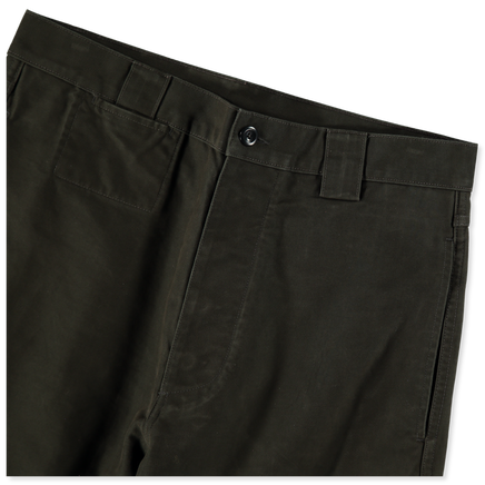 Tapered Dense Cotton Trousers