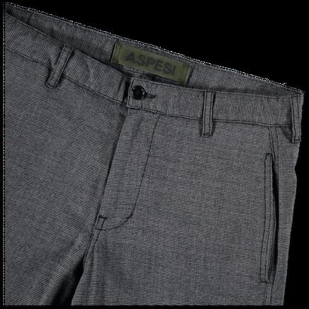 Micro Check Drawstring Trouser