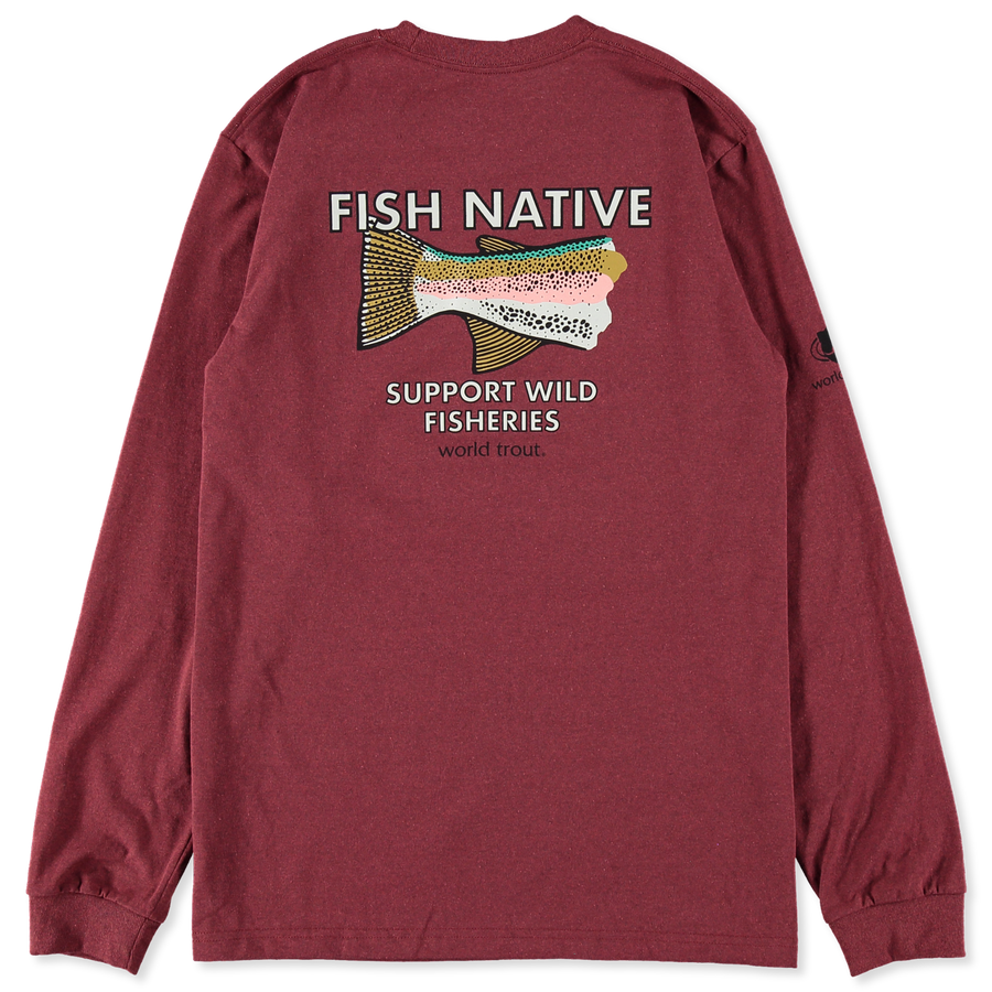 M's L/S World Trout Tee