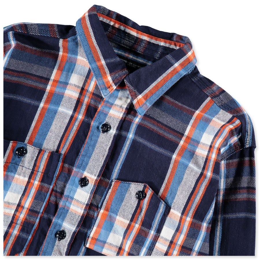 Cotton Twill Plaid Work Shirt