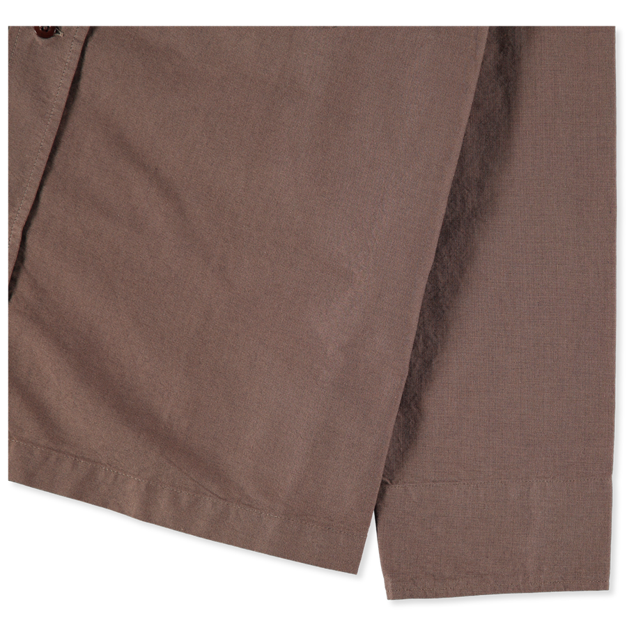 Asymmetric Collar Cotton Shirt