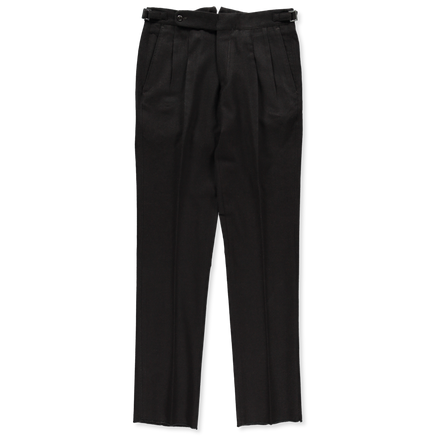 Double Pleat Wool Trouser