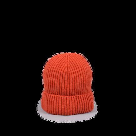 Knitted Merino/Cashmere Rib Beanie Orange