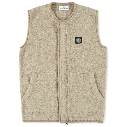 Cotton/Nylon Terry Zip Vest - 7115566D2 - V0095
