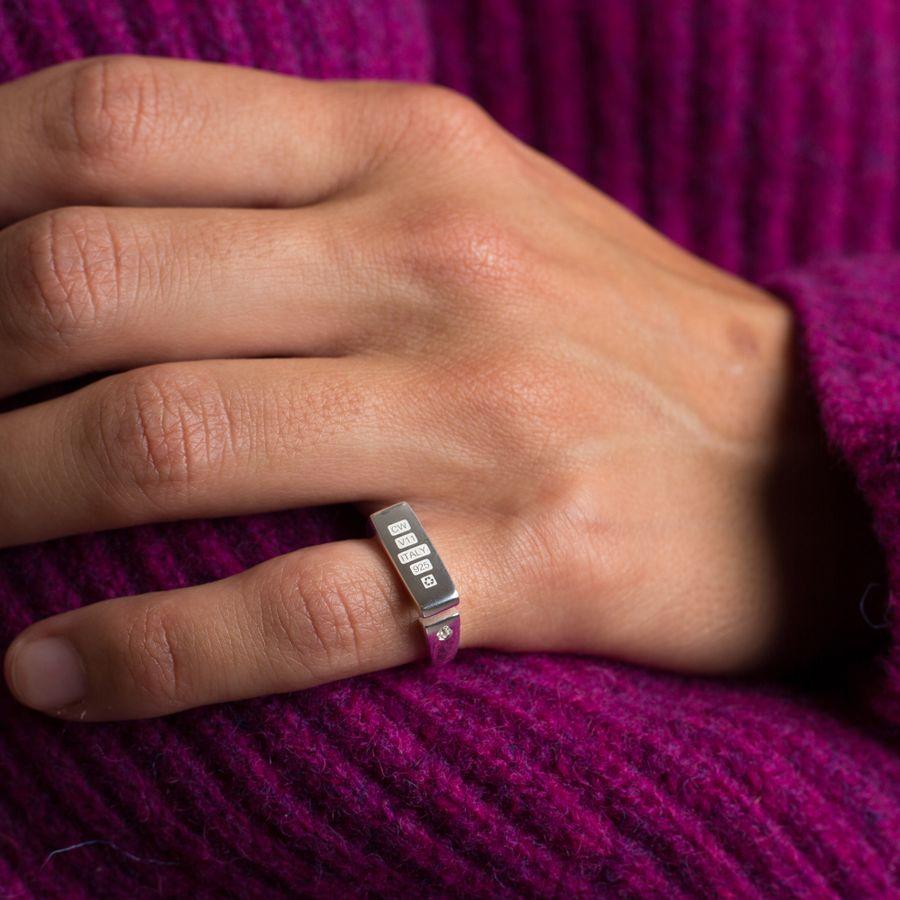 Open Signet Ring w Topaz