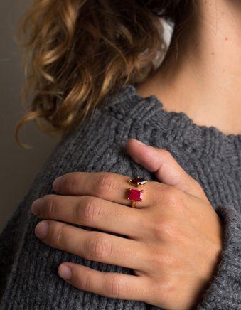 Ruby & Garnet Open Ring