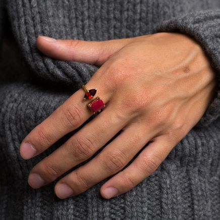 Ruby & Garnet Open Ring