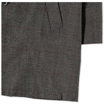 Memo Wool Check Coat