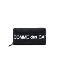 Comme des Garçons Wallet Full Zip Large Wallet - Huge Logo Black - Black