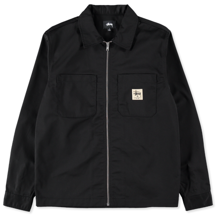 Zip Up Work LS Shirt