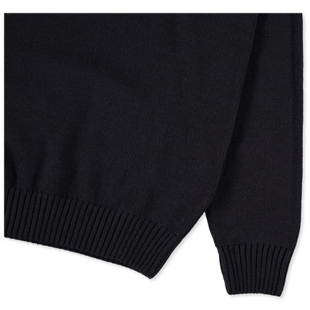 Roll Neck 7g Merino Sweater Navy
