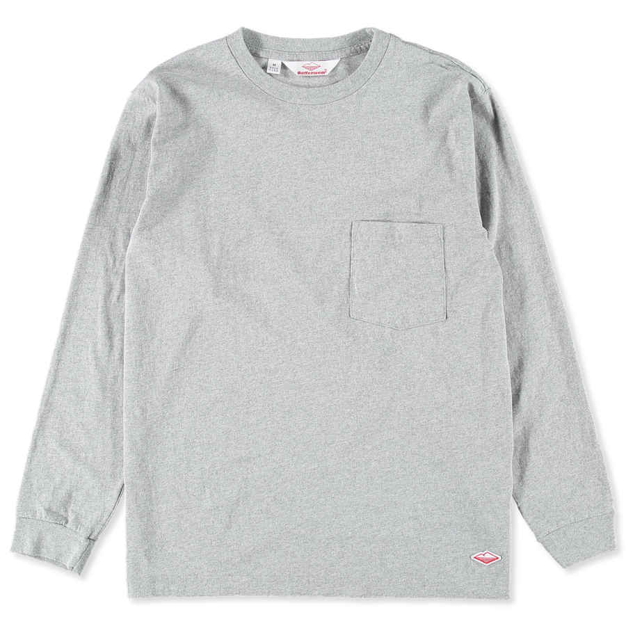 L/S Basic Pocket Tee Grey