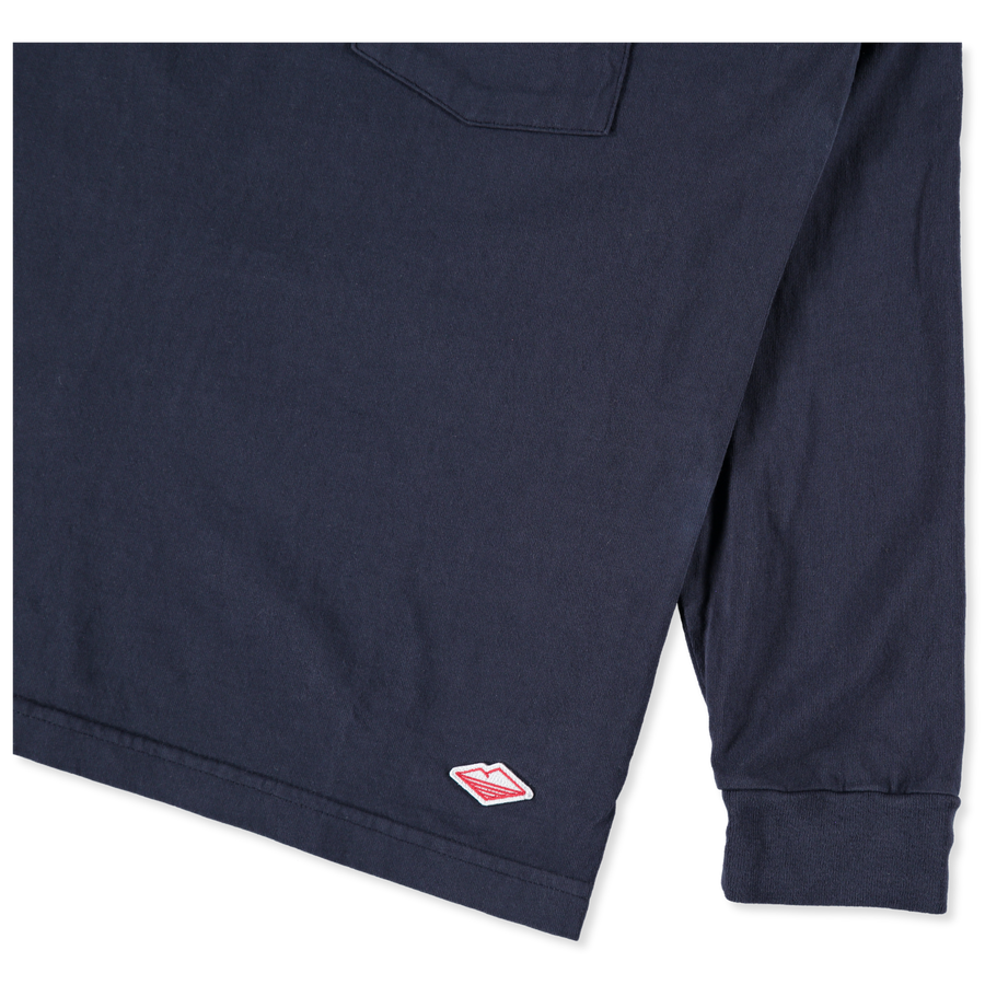 L/S Basic Pocket Tee Navy