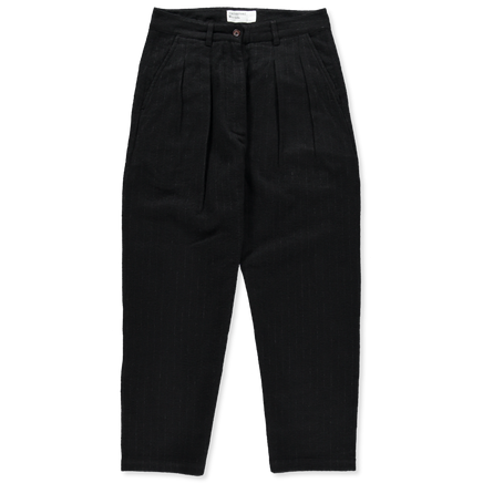 W's Double Pleat Wool Pants