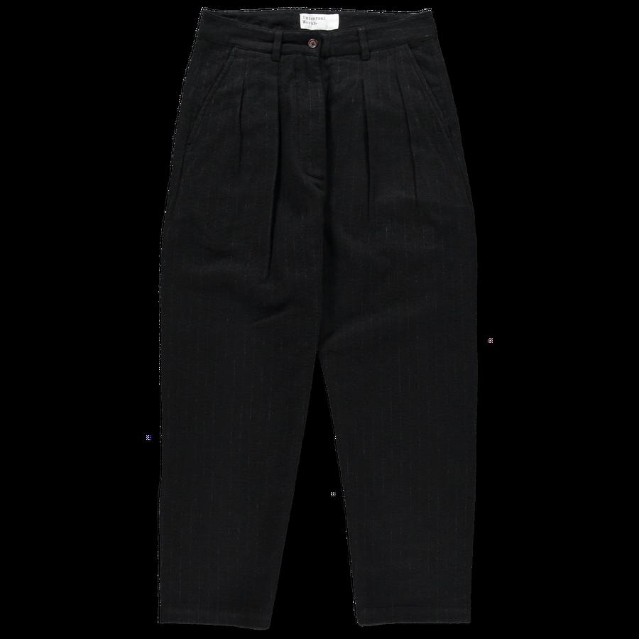 W's Double Pleat Wool Pants