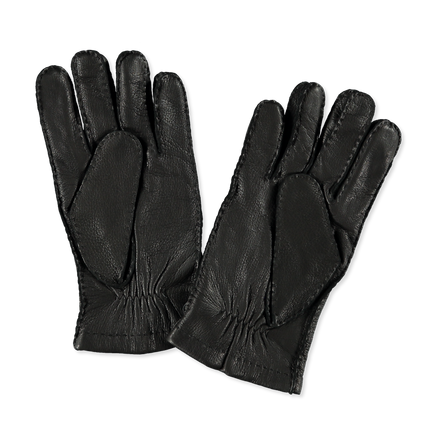 Matthew Grained Leather Glove Black