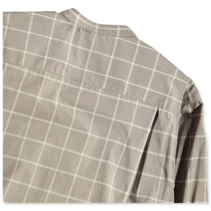 Korean Collar Windowpane Shirt