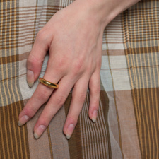 All Blues Snake Ring Thick - Polished Gold