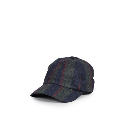 Military Wool/Cash Stripe Cap