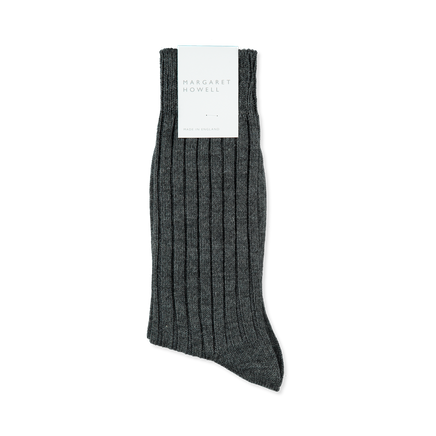 Wide Rib Heavy Merino Sock