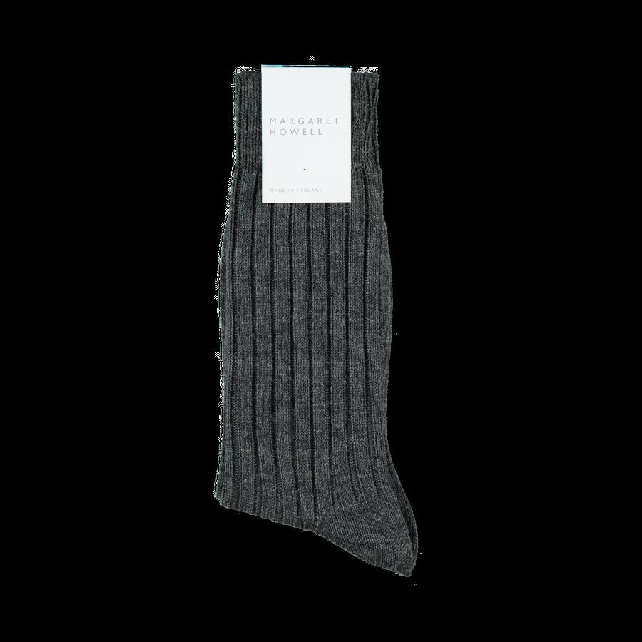 Wide Rib Heavy Merino Sock