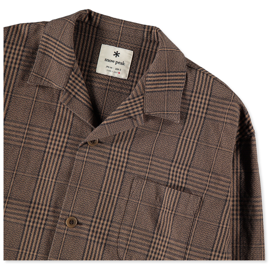 Long Shirt Jacket Glen Check
