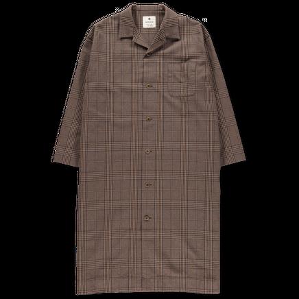 Long Shirt Jacket Glen Check
