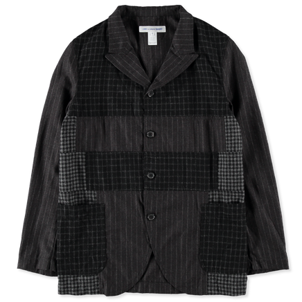 Wool Patchwork Suit Jacket