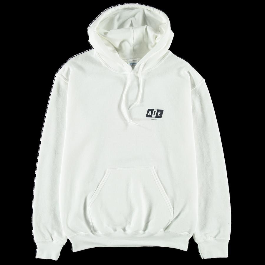 Big AiE Logo Printed Hoodie White