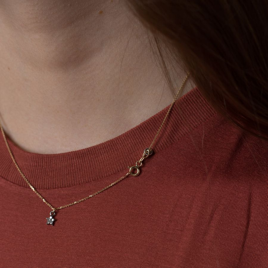 Diamond Set Star Necklace