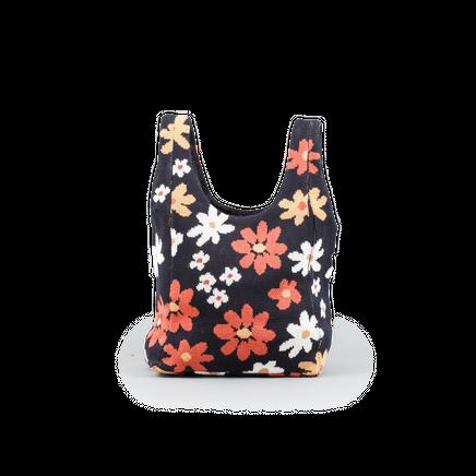 70's Floral Shopper Bag
