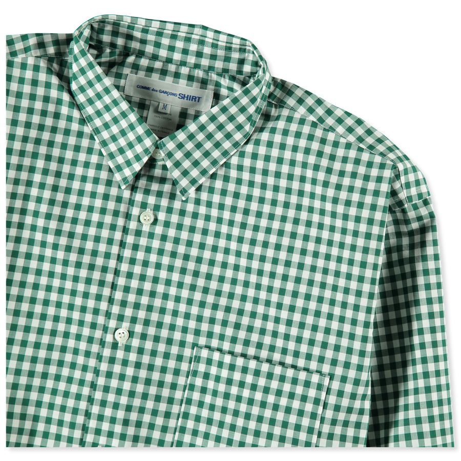 Wide Gingham Shirt