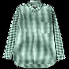 Comme des Garçons SHIRT Wide Gingham Shirt - Green