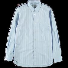Comme des Garçons SHIRT Mix Cloth Stripe Poplin Shirt - Blue