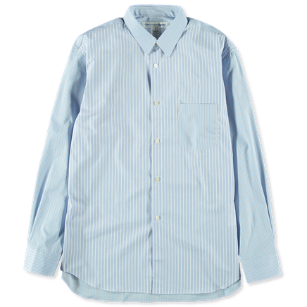 Mix Cloth Stripe Poplin Shirt